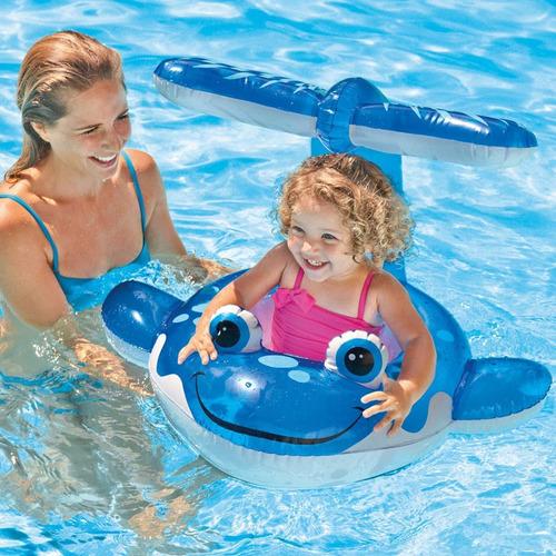 flotador para bebe intex ballena con techo