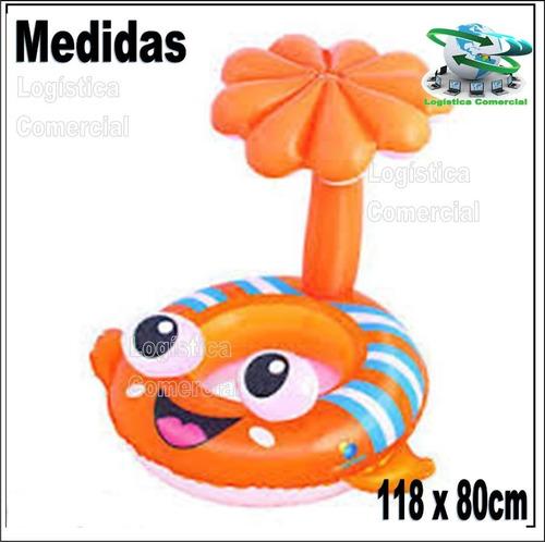 flotador parasol techo proteccion solaruv50 pez 34092
