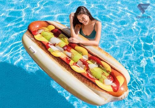flotador perro caliente hot dog gigante piscina increible