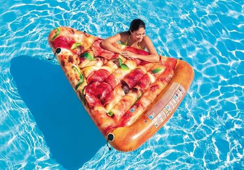 flotador pizza gigante para piscina increible
