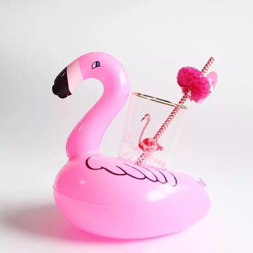 flotador portavasos flamingo piscina