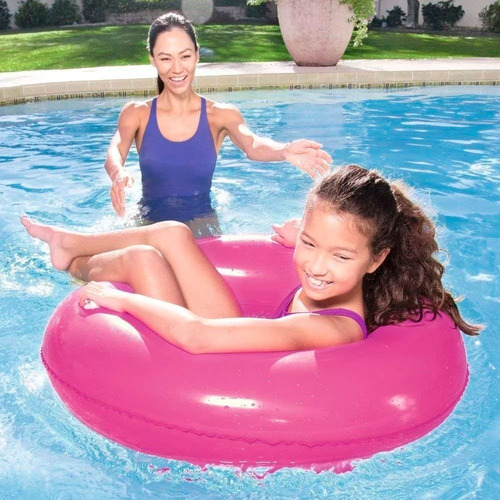 flotador salvavidas aro inflable gigante 91 cm con manijas