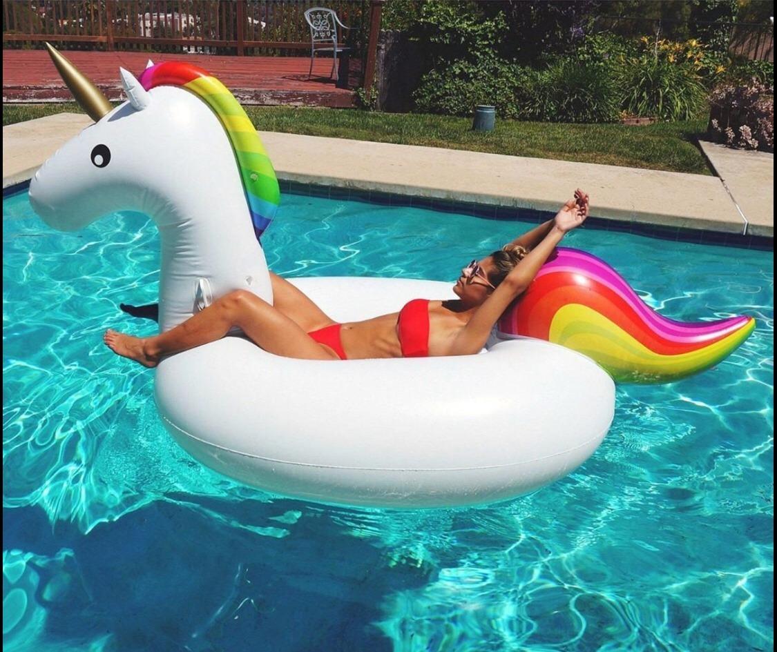 Flotador unicornio gigante inflable colchoneta para piscina en mercado libre - Colchonetas para piscina ...