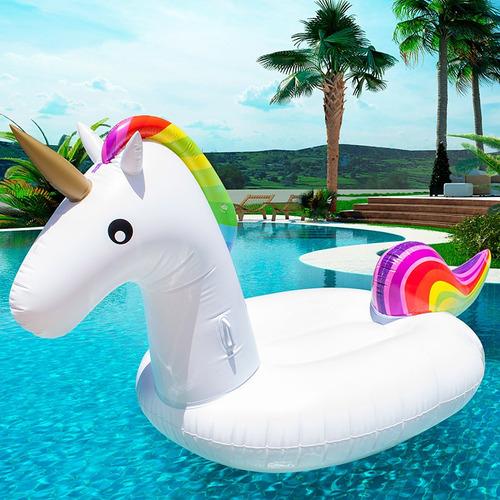 flotador unicornio gigante piscina juguete económico