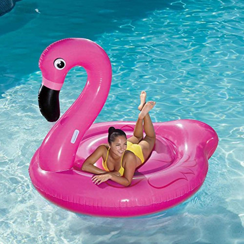 flotadores summer waves jumbo inflable rosa