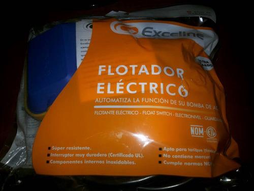 flotante eléctrico marca exceline, cable de 3 metros .