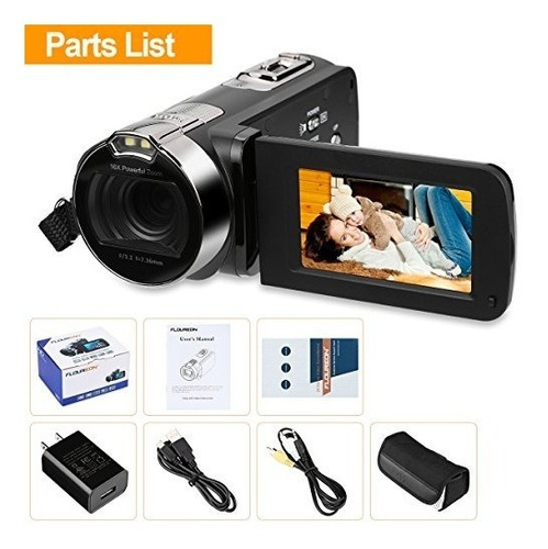 floureon hd 1080p videocámara video cámara digital dv 27 tft