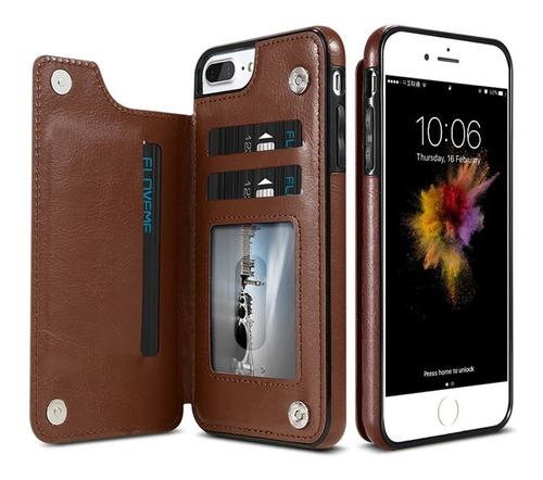 floveme para iphone 8 7 funda protectora cuero horizontal