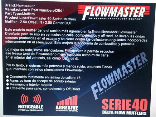 flowmaster silenciador serie 40 resonador rendimiento