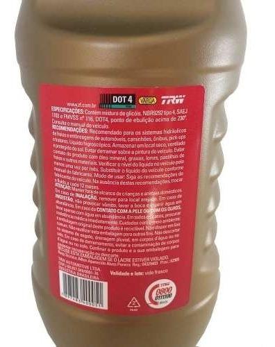 fluído de freio trw dot 4 para honda city