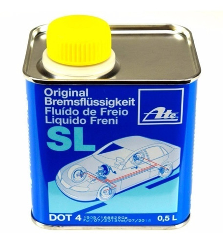 fluido freio dot 4 500ml original ate bremsflussigkeit