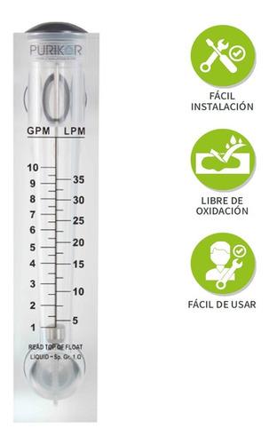 flujómetro rotámetro de 1-10 gpm para medir líquidos y gases
