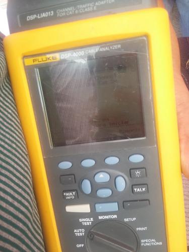 fluke dsp4000 y unidad remota certificador de cable