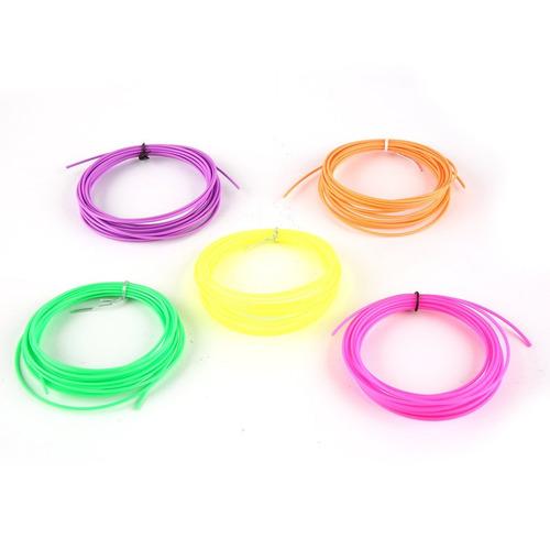 fluorescente pcl 3d caneta filamento refill 5- cores 5 metro