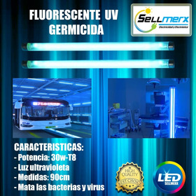 Fluorescente Uv Germicida T8 30w