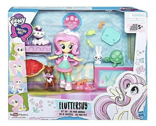 fluttershy spa mascotas equestria girls muñeca hasbro orig