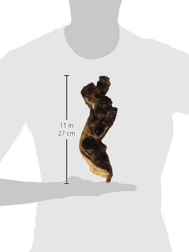 fluval driftwood mopani - pequeño - 4 x 9.8 en