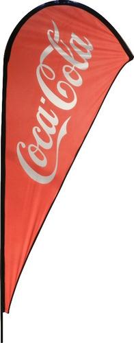 fly banner, flag banner, bandera forma gota de 240 cm altura