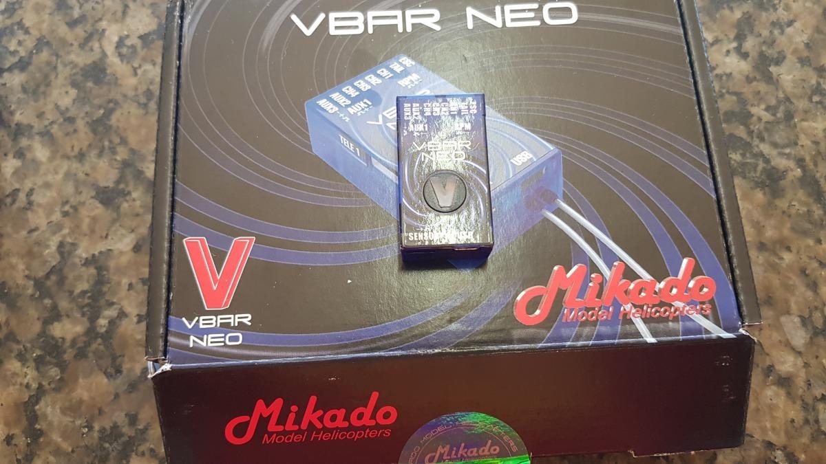 Flybarless Vbar Neo Mikado Atualizado Pro Com Rescue