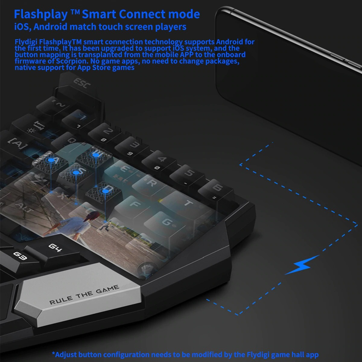 Flydigi Gamer D1 M180 Wi-fi Pubg Free Fire Mouse Android Ios