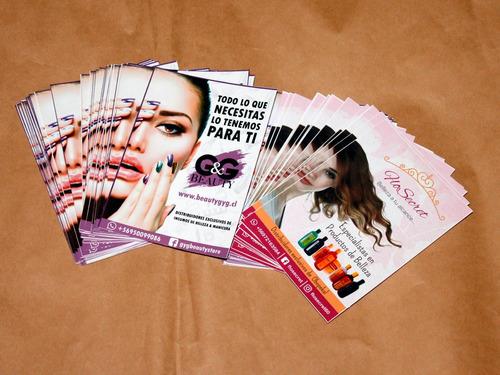 flyers impresión 1000 volantes diseño publicidad couche pyme