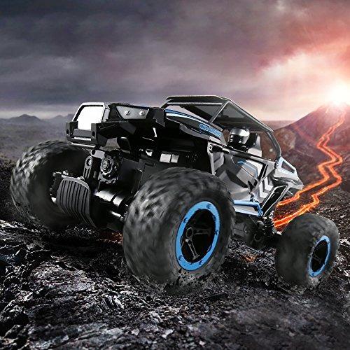flyzoe  carro rc 2,4 ghz escala 1:14 rock crawler 4 ruedas c