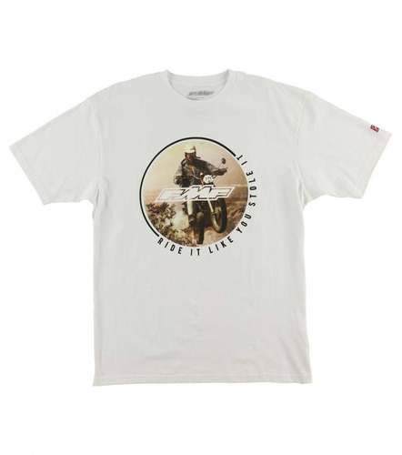 fmf racing robó 2 para hombre de manga corta t-shirt blanco