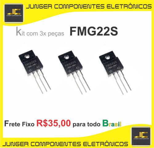 fmg22s - fmu22s - fmg22s -  fmg22 - to-220f - kit com 3x pçs