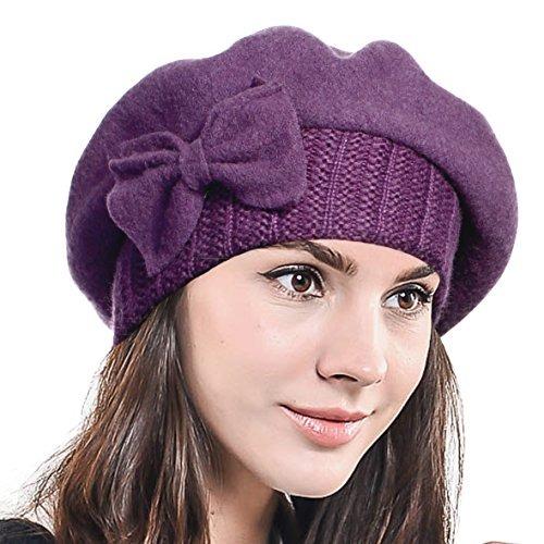 003e8ef4e6c3f F story boina de invierno francesa lana para mujer purpura en mercado libre  jpg 500x500 Boinas