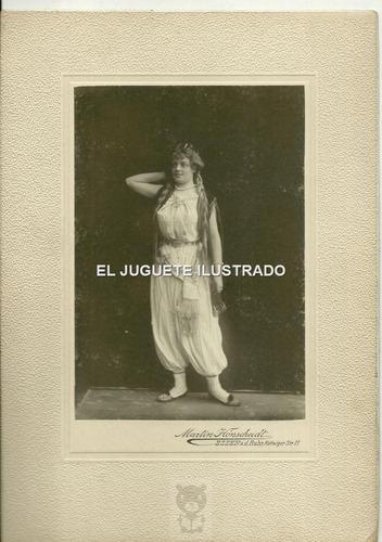 fo86 foto carton 1901 alemania art nouveau antigua