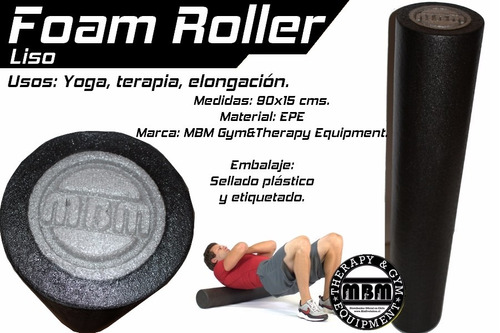 foam roller yoga - epe - 90x15 cms