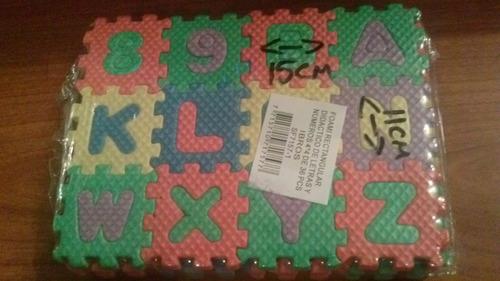 foami didactico de letras y numeros 15cmx11cm