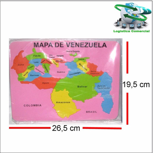 foami educativo del mapa de venezuela rompecabeza colegio