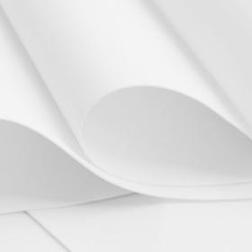 Foamiran Branco Eva Extrafino 0.7mm 30x35 10 Folhas Branca