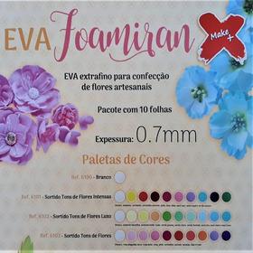 Foamiran Eva Extra Fino 0.7mm Pétalas Flores Folhas 10 Uni