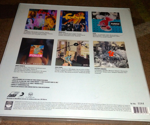 fobia discografía boxset (vinilo, lp, vinil, vinyl) 12 msi