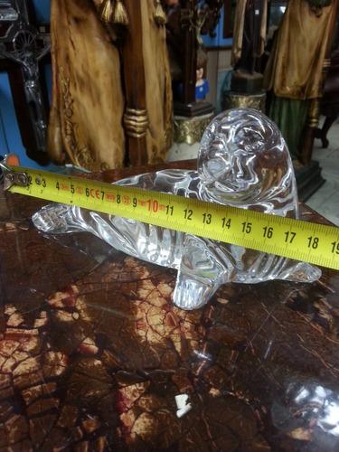 foca tallada en cristal murano italiana