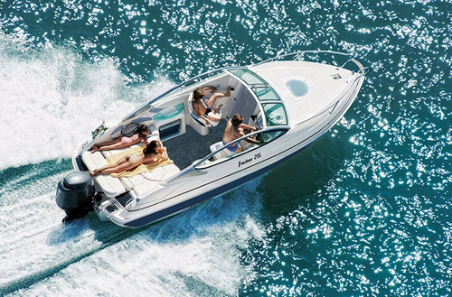 focker 215 black edition cabinada + motor 150hp mercury