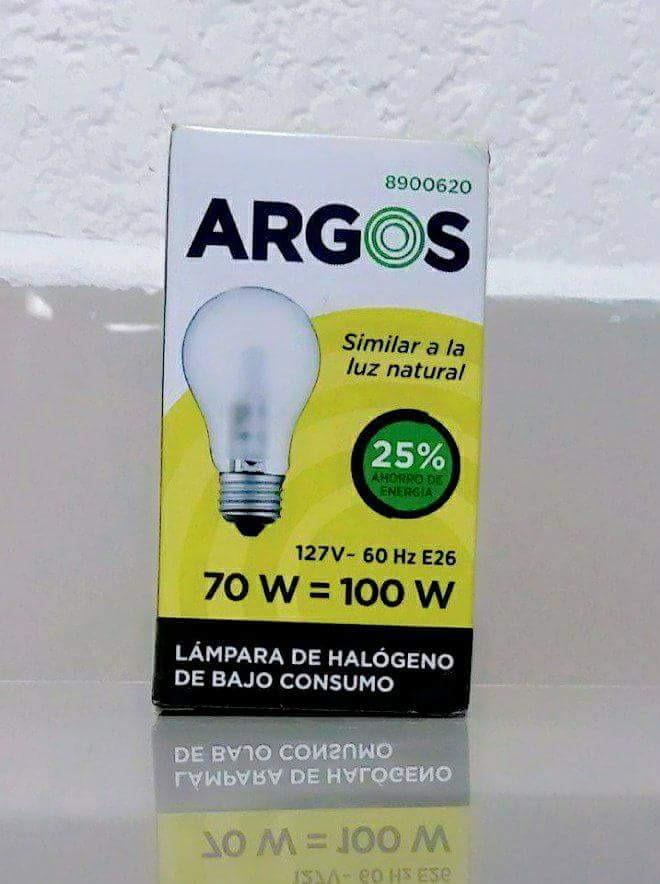 Foco 75 - 100 Watts Argos Halógeno (mayoreo) - $ 8.90 en Mercado Libre