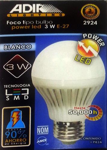 foco ahorrador led 3 watts ¡¡ precio mayoreo !!