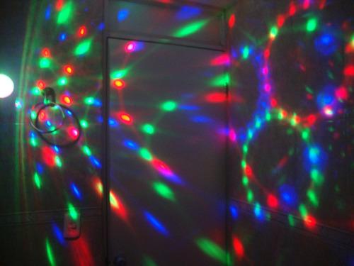 foco autogiratorio audioritmico magic ball e27 led 3w disco