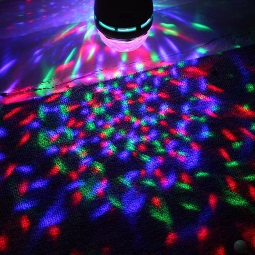 foco bombillo giratorio luz led multicolor  navidad fiestas