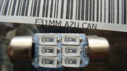 foco bulbo led festoon tipo fusible 31mm alta potencia