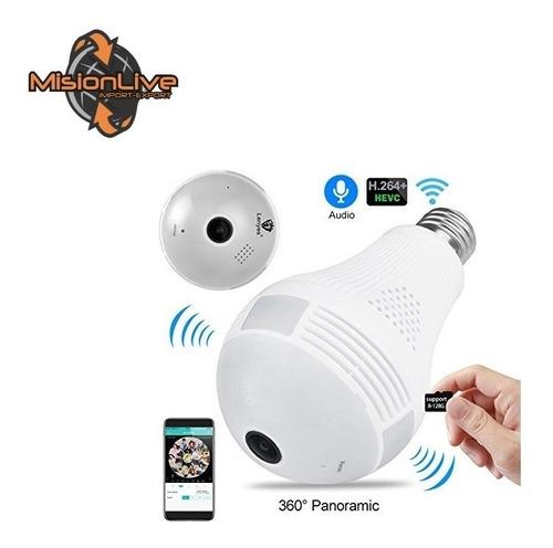 foco  camara espia 360°  lampara led - wifi - sonido oferta