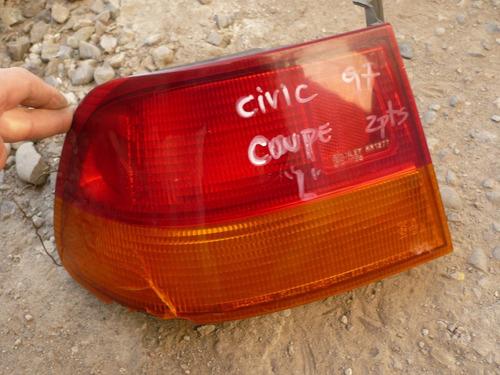 foco civic coupe 1997  trs izq  c/daños - lea descripción