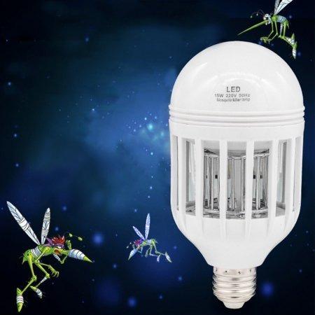Resultado de imagen para Foco Contra Mosquitos Incluye Luz Led Blanca 15 Watts