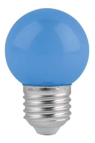foco de led, g45, 127 v, 1 w, color azul  b46026