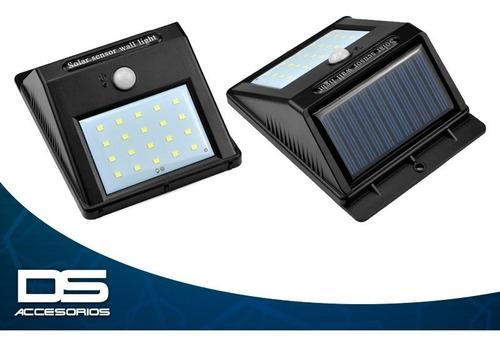foco exterior solar led con sensor de movimiento