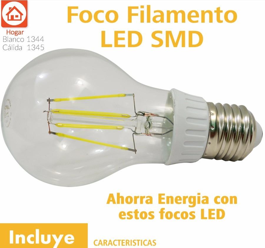 Foco filamento led 5w luz calida o blanca standar for Focos led para cocina