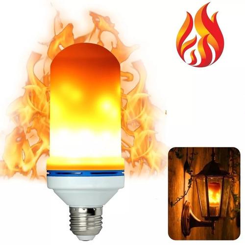 foco flama led efecto de fuego